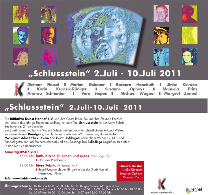 Plakat/Flyer Themenausstellung 2011