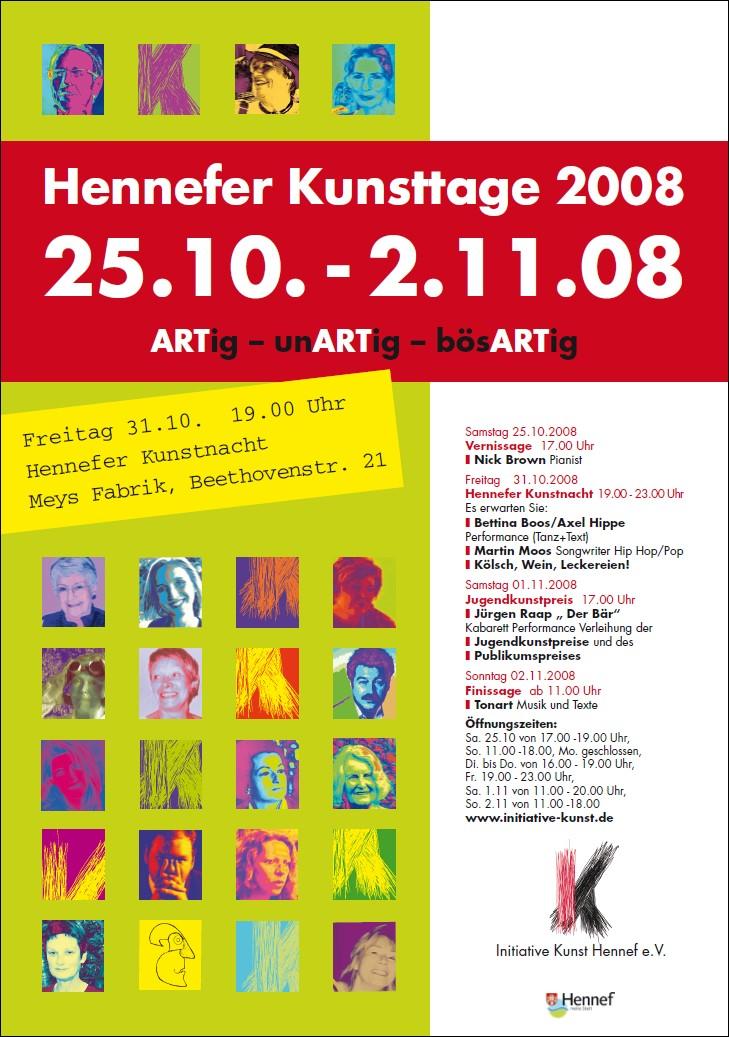 Plakat Hennefer Kunsttage 2008