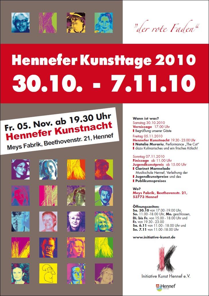 Plakat Hennefer Kunsttage 2010