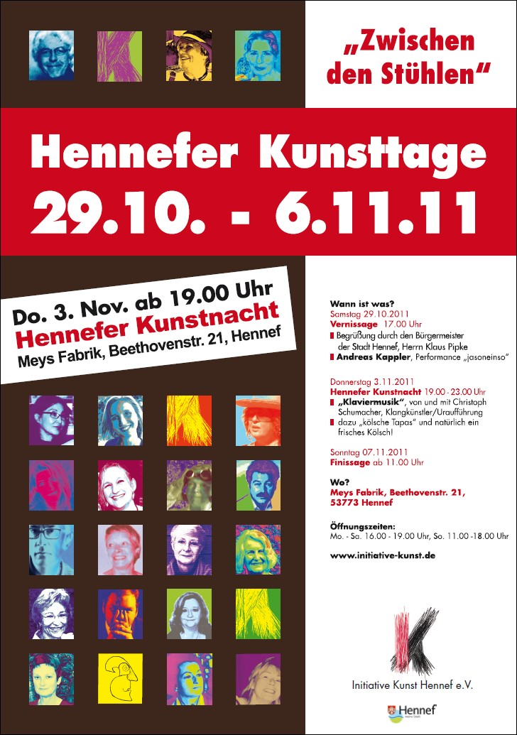 Plakat Hennefer Kunsttage 2011