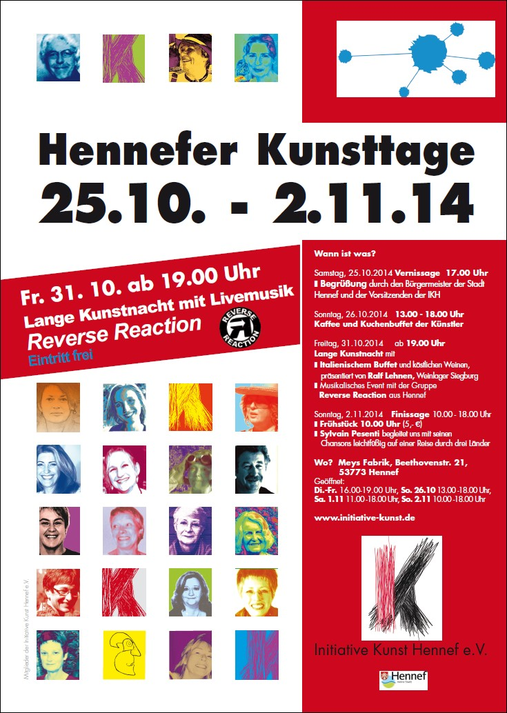 Plakat Hennefer Kunsttage 2014