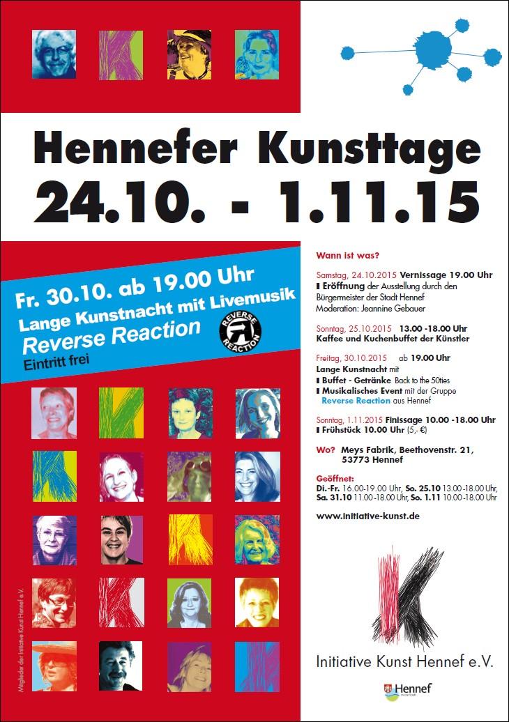 Plakat Hennefer Kunsttage 2015