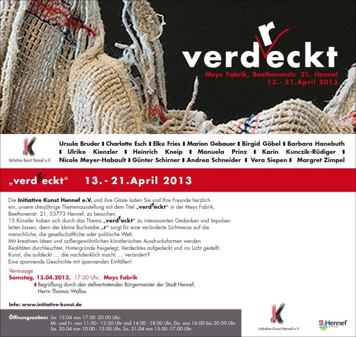 Plakat/Flyer Themenausstellung 2013