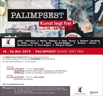 Flyer Themenausstellung 2019 - Palimpsest