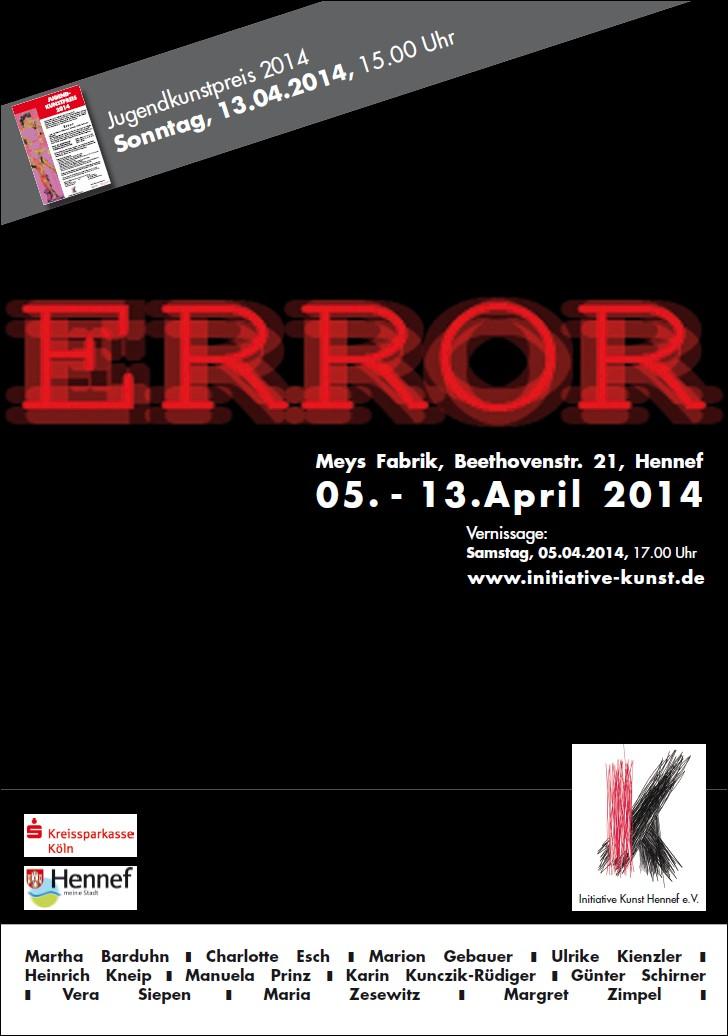 Plakat/Flyer Themenausstellung 2014