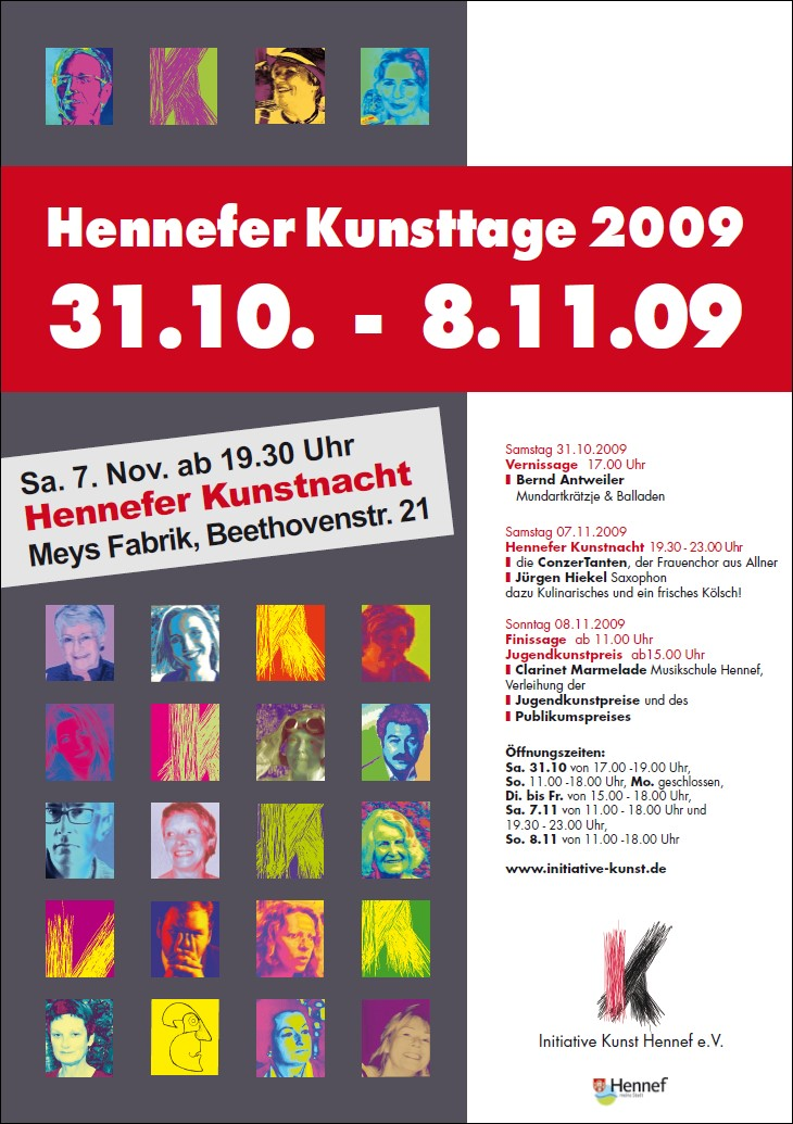 Plakat Hennefer Kunsttage 2009