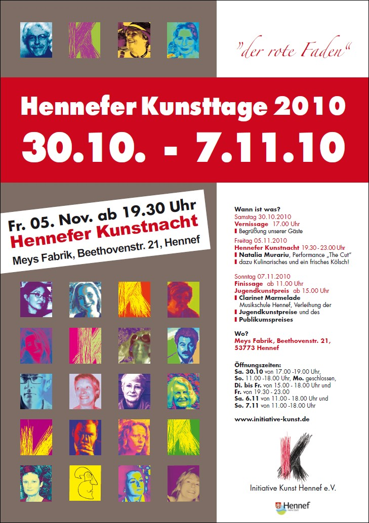 Plakat Hennefer Kunsttage 2010