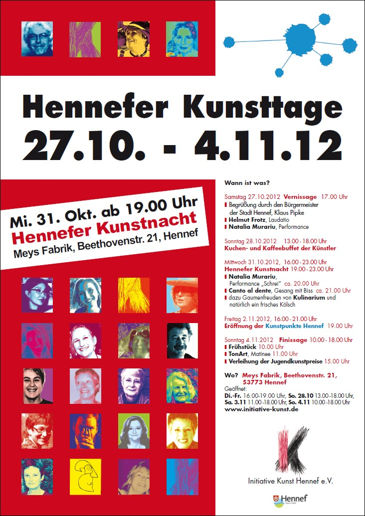 Plakat Hennefer Kunsttage 2012
