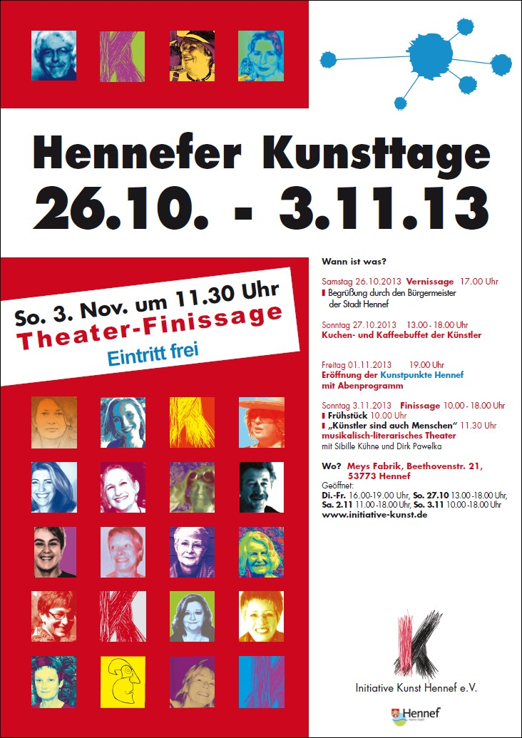 Plakat Hennefer Kunsttage 2013