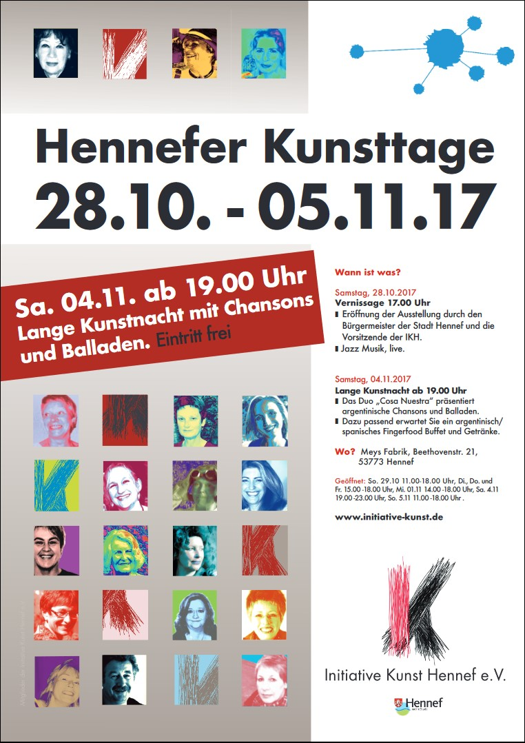 Plakat Hennefer Kunsttage 2017